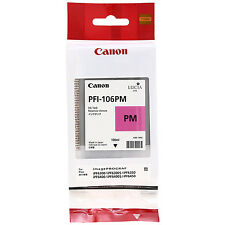 GENUINE ORIGINAL CANON PFI-106PM PHOTO MAGENTA INK CARTRIDGE (6626B001AA)