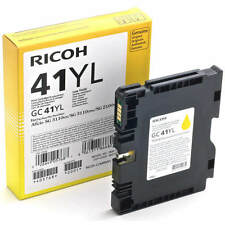 GENUINE ORIGINAL RICOH 405768 LOW YIELD YELLOW GEL INK CARTRIDGE (GC41YL)