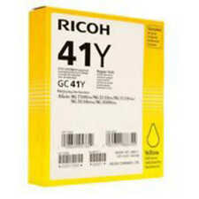 GENUINE ORIGINAL RICOH 405764 YELLOW GEL INK CARTRIDGE (GC41Y)