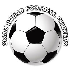 30mm - Football stickers - great for school books - rewards and collecting