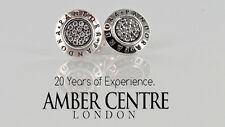 GENUINE PANDORA STUD EARRINGS S925 ALE SILVER WITH CUBIC ZIRCONIA-290559CZ