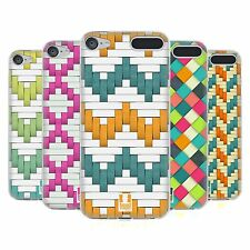 HEAD CASE WOVEN PAPER PATTERNS SOFT GEL CASE FOR APPLE iPOD TOUCH 6G 6TH GEN