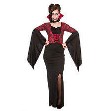 Ladies Alluring Vampiress Fancy Dress Party Horror Role Play Halloween Costume