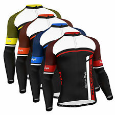 FDX Mens Cycling Jersey Long sleeve Winter Thermal Cold Wear  Cycling Jacket