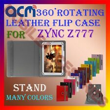 ACM-ROTATING 360° LEATHER FLIP STAND COVER  CASE for ZYNC Z777 TABLET TAB LATEST