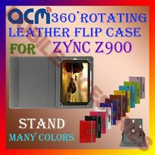 ACM-ROTATING 360° LEATHER FLIP STAND COVER  CASE for ZYNC Z900 TABLET TAB LATEST
