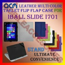 ACM-LEATHER FLIP MULTI-COLOR COVER CASE STAND for IBALL SLIDE I701 TABLET TAB