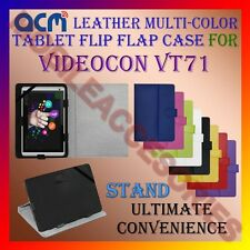 ACM-LEATHER FLIP MULTI-COLOR COVER CASE STAND for VIDEOCON VT71 TABLET CARRY NEW