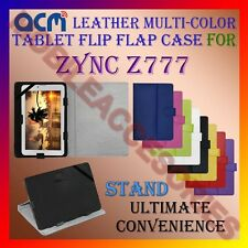ACM-LEATHER FLIP MULTI-COLOR COVER CASE STAND for ZYNC Z777 TAB CARRY TABLET TAB