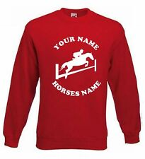 KIDS HORSE RIDING JUMPER -  JUMPING PERSONALISED SWEATER HORSE 5-15