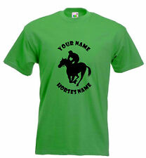HORSE RIDING FUNNY T-SHIRT - RACING HORSE TSHIRT PERSONALISED SIZE S-XXL