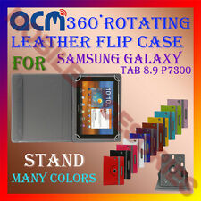ACM-ROTATING 360° LEATHER FLIP STAND COVER CASE for SAMSUNG GALAXY TAB 8.9 P7300