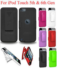 Amzer Shell Hard Case Holster With 180º Belt Clip Stand iPod Touch 5th 6th Gen