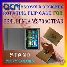ACM-DESIGNER ROTATING 360° FLIP STAND COVER CASE for BSNL PENTA WS703C TPAD TAB