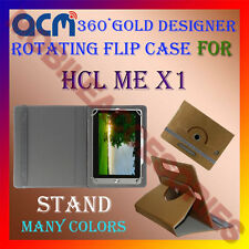 ACM-DESIGNER ROTATING 360° FLIP STAND COVER CASE for HCL ME X1 TABLET CARRY TAB