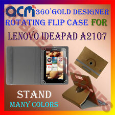 ACM-DESIGNER ROTATING 360° FLIP STAND COVER CASE for LENOVO IDEAPAD A2107 TABLET