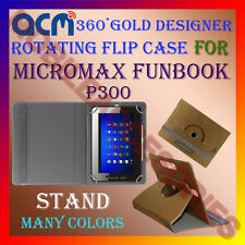 ACM-DESIGNER ROTATING 360° FLIP STAND COVER CASE for MICROMAX FUNBOOK P300 TAB