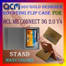 ACM-DESIGNER ROTATING 360° FLIP STAND COVER CASE for HCL ME CONNECT 3G 2.0 Y4