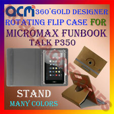 ACM-DESIGNER ROTATING 360° FLIP STAND COVER CASE for MICROMAX FUNBOOK TALK P350