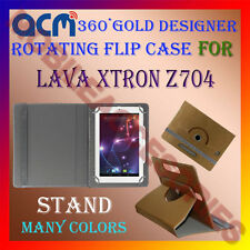ACM-DESIGNER ROTATING 360° FLIP STAND COVER CASE for LAVA XTRON Z704 TABLET TAB