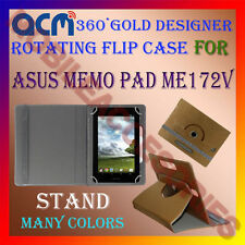 ACM-DESIGNER ROTATING 360° FLIP STAND COVER CASE for ASUS MEMO PAD ME172V TABLET
