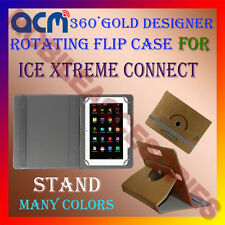ACM-DESIGNER ROTATING 360° FLIP STAND COVER CASE for ICE XTREME CONNECT TABLET