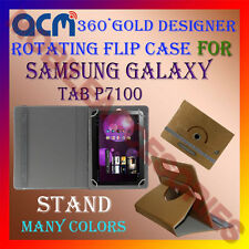 ACM-DESIGNER ROTATING 360° FLIP STAND COVER CASE for SAMSUNG GALAXY TAB P7100