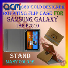 ACM-DESIGNER ROTATING 360° FLIP STAND COVER CASE for SAMSUNG GALAXY TAB P7510