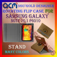 ACM-DESIGNER ROTATING 360° FLIP COVER STAND CASE SAMSUNG GALAXY NOTE 10.1 P6010
