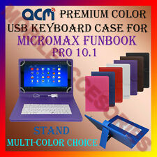 "ACM-USB COLOR KEYBOARD 10"" CASE for MICROMAX FUNBOOK PRO 10.1"" COVER STAND CARRY"