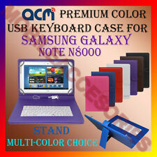 "ACM-USB COLOR KEYBOARD 10"" CASE for SAMSUNG NOTE N8000 TAB LEATHER COVER STAND"