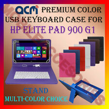 """ACM-USB COLOR KEYBOARD 10"""" CASE for HP ELITE PAD 900 G1 TAB LEATHER COVER STAND"""