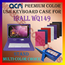 "ACM-USB COLOR KEYBOARD 10"" CASE for IBALL WQ149 TAB TABLET LEATHER COVER STAND"