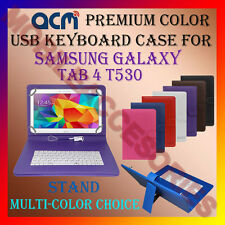 "ACM-USB COLOR KEYBOARD 10"" CASE of SAMSUNG GALAXY TAB 4 T530 LEATHER COVER STAND"
