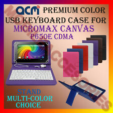 """ACM-USB COLOR KEYBOARD 7"""" CASE of MICROMAX CANVAS P650E CDMA LEATHER COVER STAND"""