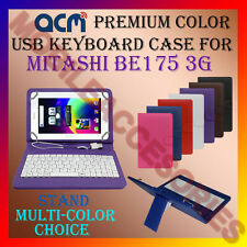 "ACM-USB COLOR KEYBOARD 7"" CASE for MITASHI BE175 3G TABLET LEATHER COVER STAND"