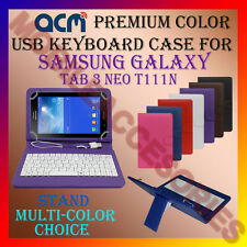 "ACM-USB COLOR KEYBOARD 7"" CASE for SAMSUNG TAB 3 NEO T111N LEATHER COVER STAND"