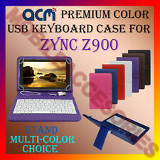 """ACM-USB COLOR KEYBOARD 7"""" CASE for ZYNC Z900 TABLET LEATHER COVER STAND CARRY"""