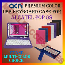 """ACM-USB COLOR KEYBOARD 8"""" CASE for ALCATEL POP 8S TABLET LEATHER COVER STAND NEW"""