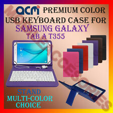 "ACM-USB COLOR KEYBOARD 8"" CASE for SAMSUNG GALAXY TAB A T355 LEATHER COVER STAND"