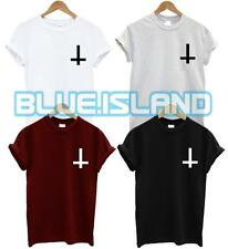 INVERTED CROSS POCKET LOGO T SHIRT WASTED YOUTH TSHIRT FASHION HIPSTER SWAG