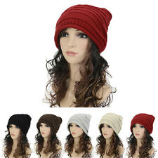 Women Winter Hat Knit Beanie Hat Winter Warmer Unisex Ladies Woolen Ski Hat Caps