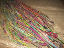 Set Of 10 Recycled Eco Double Ended Dreadlock Upcycled DE Dread Extension Felted