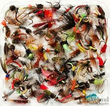 Assortment Trout Fly Fishing Flies Wet Dry Nymph Buzzers 10 25 50 100