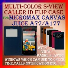 ACM-S-VIEW SMART INTERATIVE LEATHER FLIP CASE for MICROMAX CANVAS JUICE A77/A177