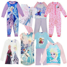 Official Disney Frozen Elsa Anna Olaf Childrens Pyjama Sets & Long Sleeved Tops
