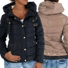 H430 Damen Winter Jacke Steppjacke Parka Jacket Daunen Look Winterjacke