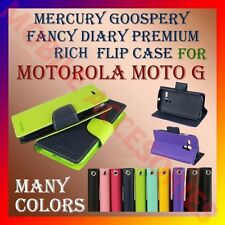 ACM-MERCURY PREMIUM DIARY FLIP FLAP CASE for MOTOROLA MOTO G MOBILE WALLET COVER