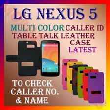 ACM-CALLER ID MULTI-COLOR TABLE TALK CASE LG GOOGLE NEXUS 5 MOBILE FLIP COVER