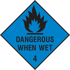Dang0021 Dangerous When Wet Sign Sticker Health Safety Warning